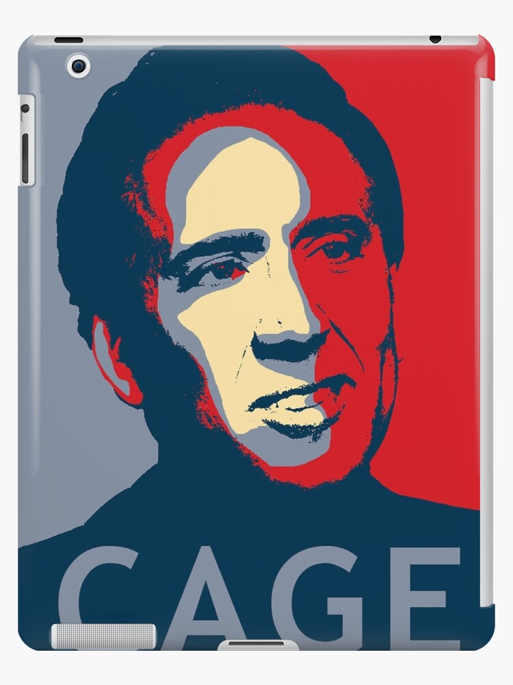 nicolas cage pop art obama style poster meme ipad cases skins by