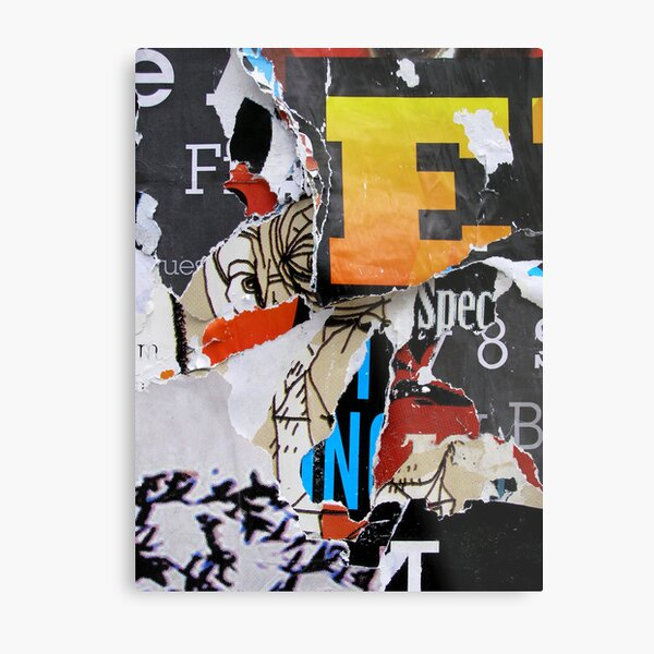Found Collage Metal Print