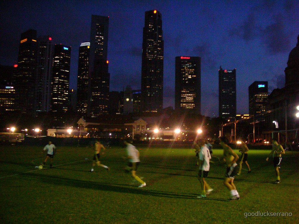 soccer vs skyscrapers by goodluckserrano