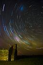 Star trail Barras Homestead by Murray Wills