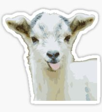 Silly Goat Tongue Sticker
