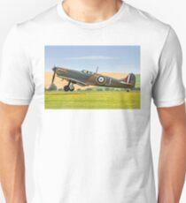 Spitfire Ia P9374/J G-MKIA three pointer Unisex T-Shirt