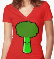 Eat Your Vegetables! Women's Fitted V-Neck T-Shirt