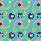 Funky Blue Circles by Valerie Hartley Bennett
