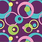 Funky Purple Circles by Valerie Hartley Bennett