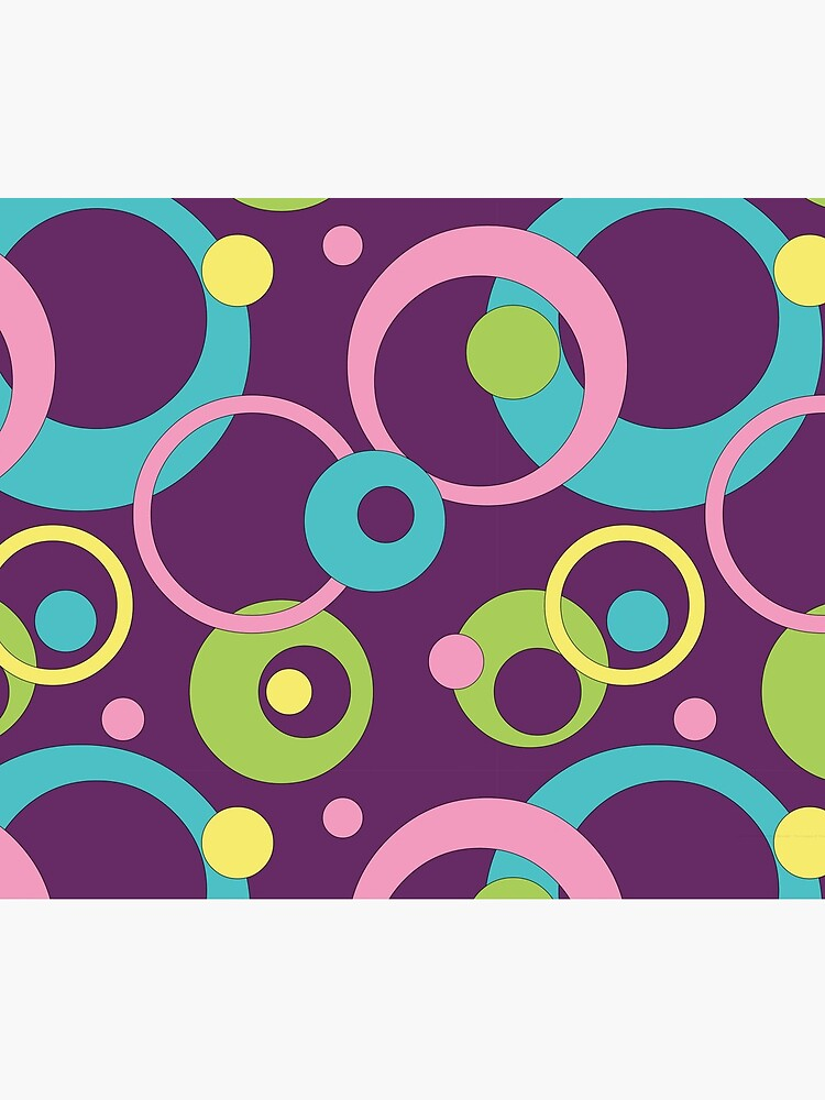 Funky Purple Circles by ValerieDesigns