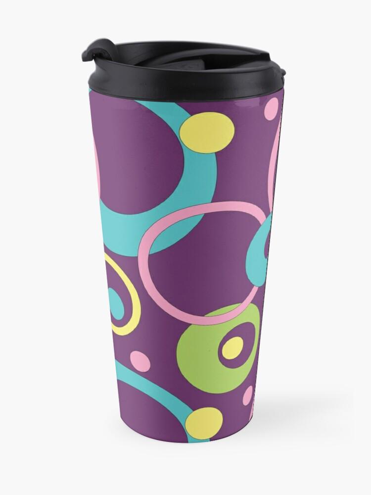 Alternate view of Funky Purple Circles Travel Mug