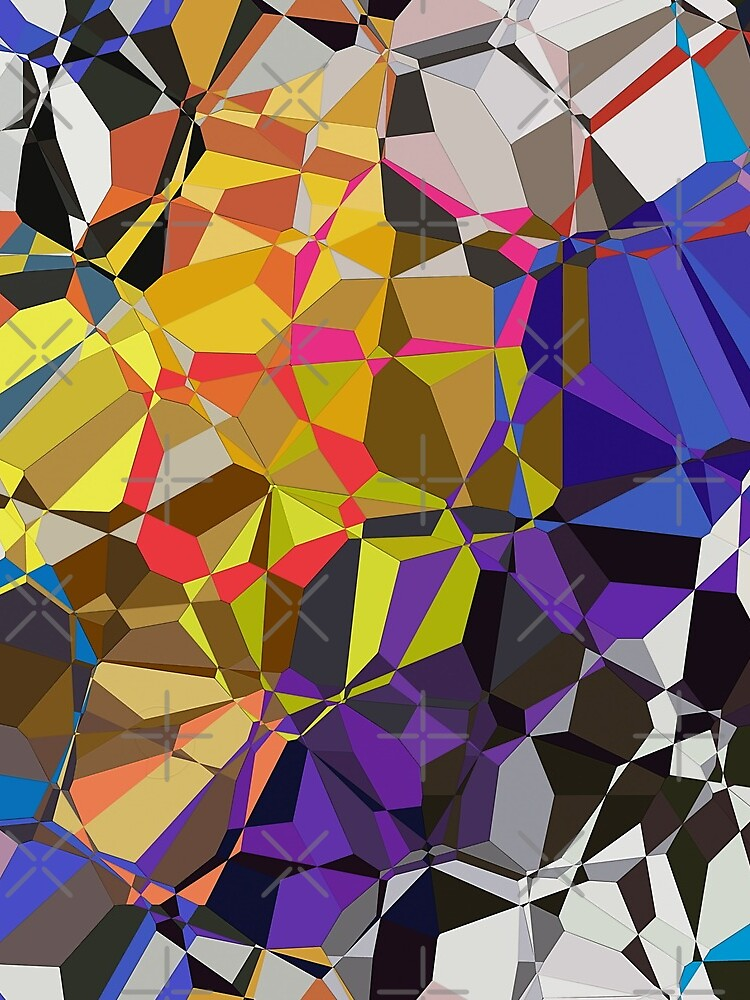 Colorful Geometric Pattern by perkinsdesigns