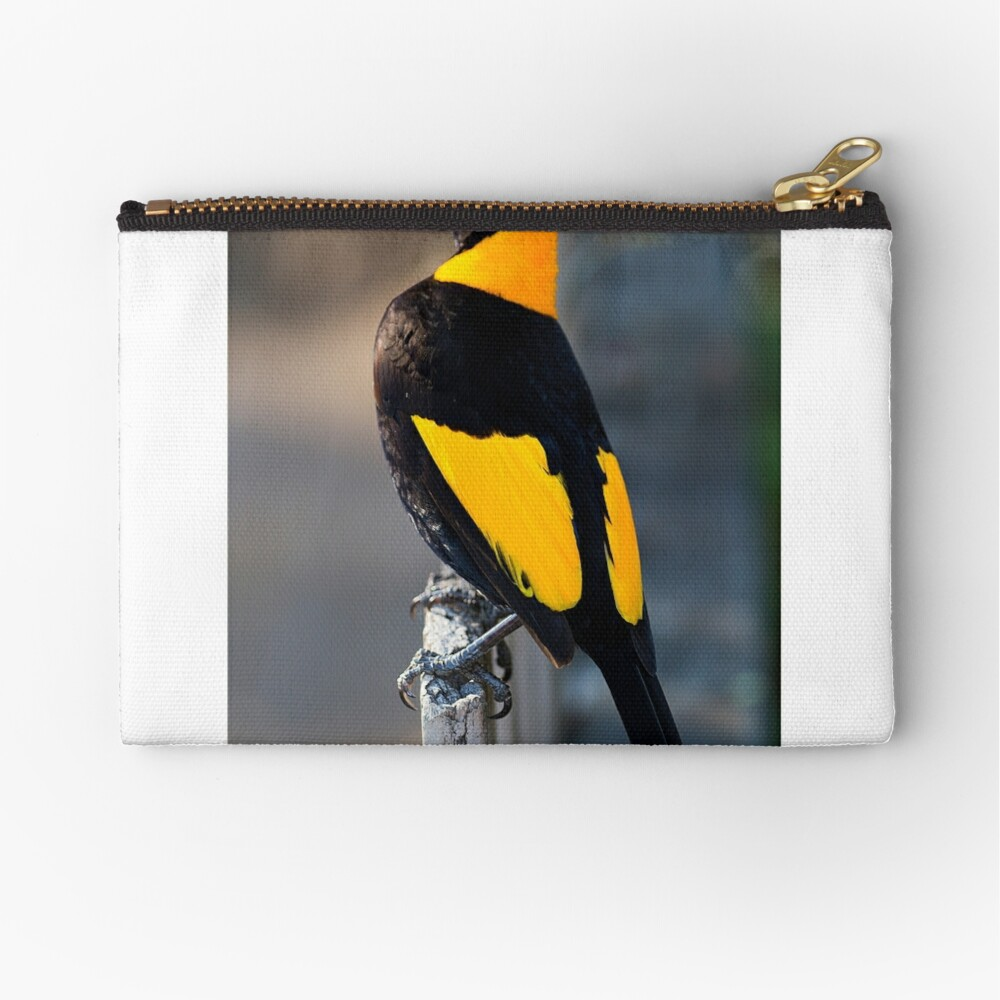 Regent Bower Bird - Lamington National Park, Australia Zipper Pouch