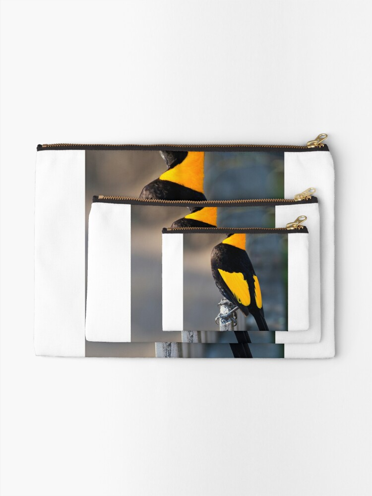 Alternate view of Regent Bower Bird - Lamington National Park, Australia Zipper Pouch