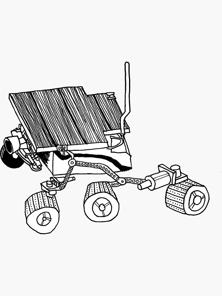 Mars Rover Sojourner Sticker By Cardboardcat