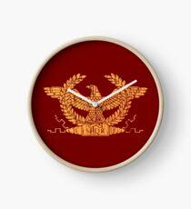 Roman Empire Flag Standard Clock