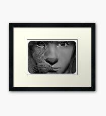 animal girl  Framed Print