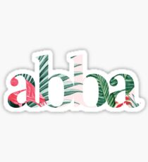 Abba Pattern Sticker