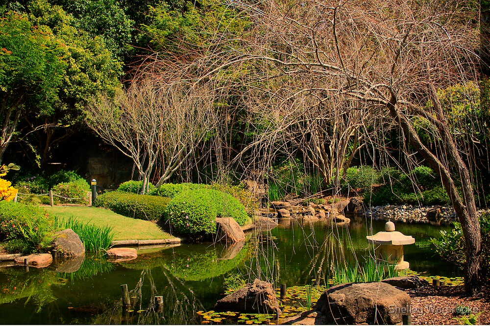 Japanese Gardens HDR by Shelley Warbrooke