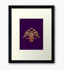 Byzantinische Adler-Symbol-Flagge Gerahmter Kunstdruck