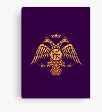 Byzantine Eagle Symbol Flag Canvas Print