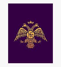 Byzantine Eagle Symbol Flag Photographic Print