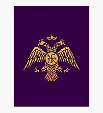 Byzantine Eagle Symbol Flag Photographic Print