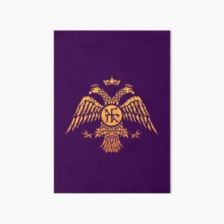 Byzantine Eagle Symbol Flag Art Board Print