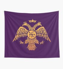 Byzantine Eagle Symbol Flag Wall Tapestry