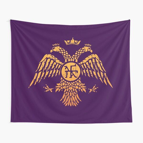 Byzantine Eagle Symbol Flag Tapestry