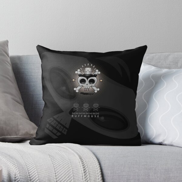 Ruffmouse Bone Headed Throw Pillow