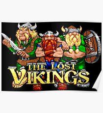 The Lost Vikings (Genesis Title Screen) Poster