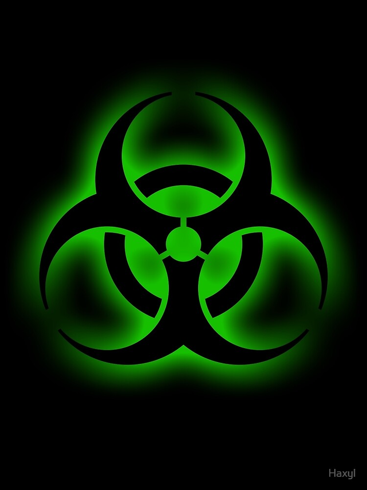 Quot Toxic Biohazard Sign Quot By Haxyl Redbubble