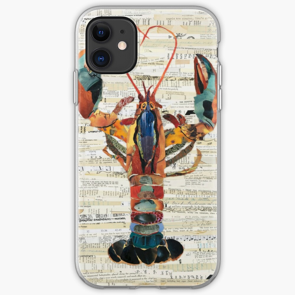 Lobster Collage by C.E. White  iPhone Case & Cover