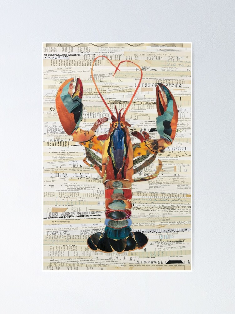 Alternate view of Lobster Collage by C.E. White  Poster