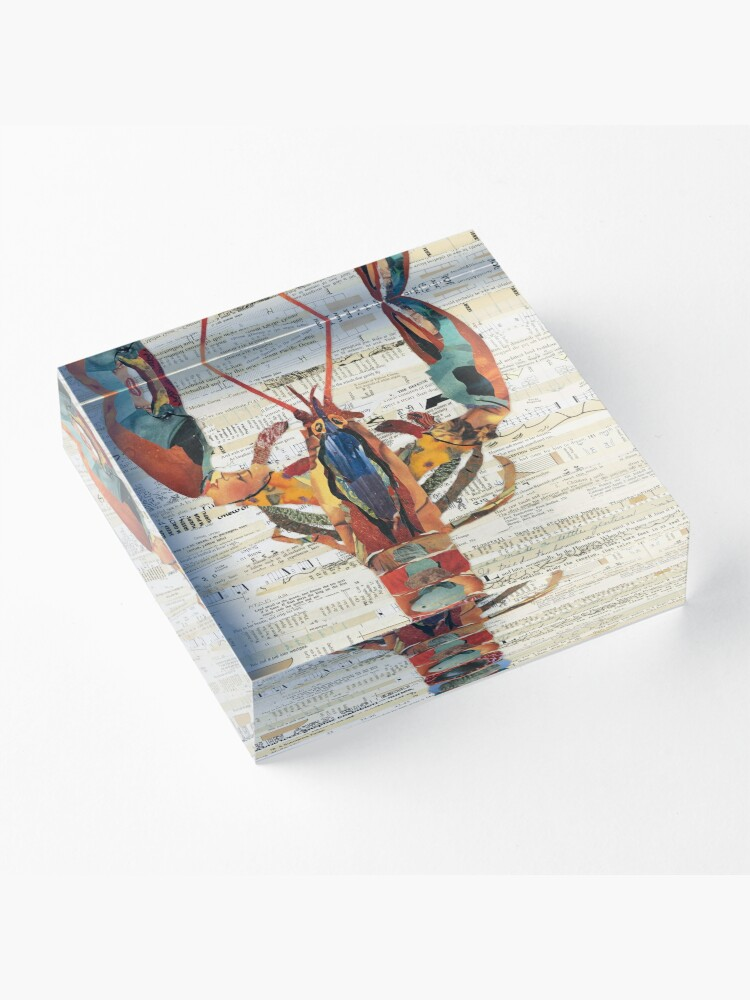 Alternate view of Lobster Collage by C.E. White  Acrylic Block