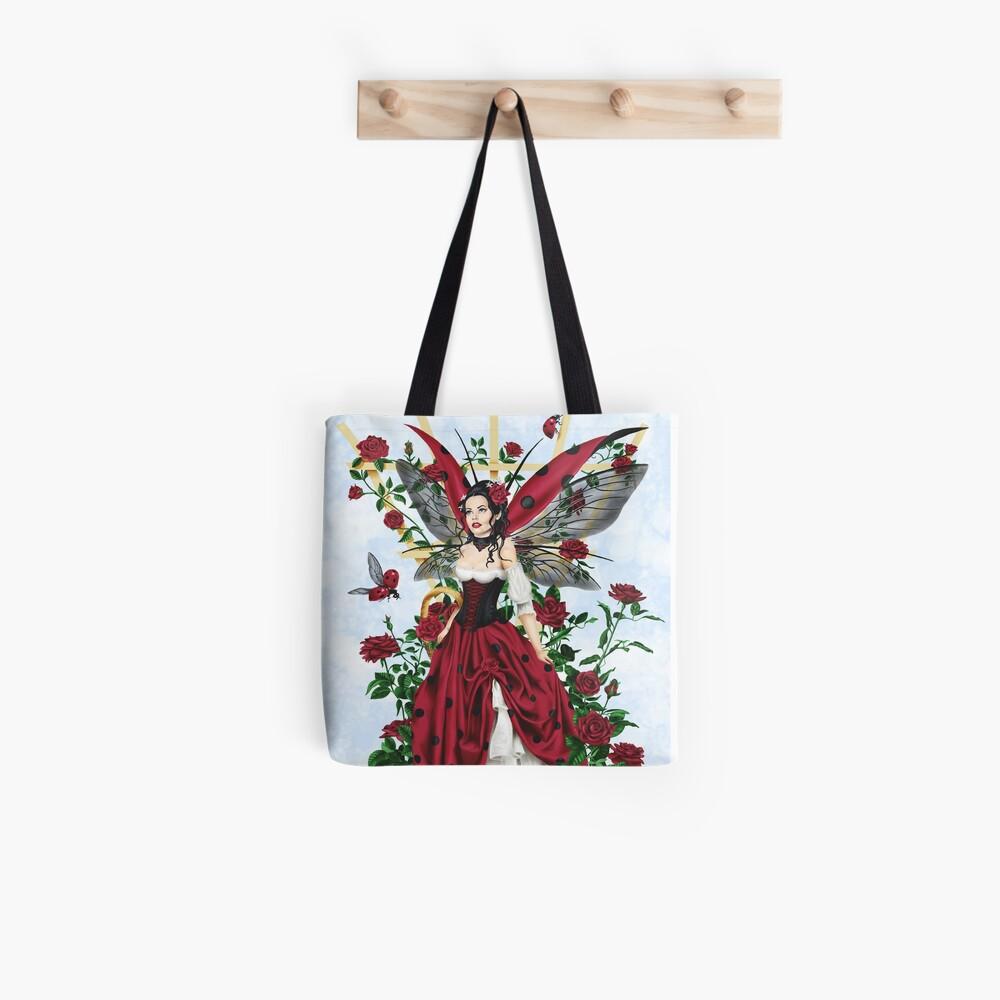 Marienkäfer Fairy Red Rose Garden Tote Bag