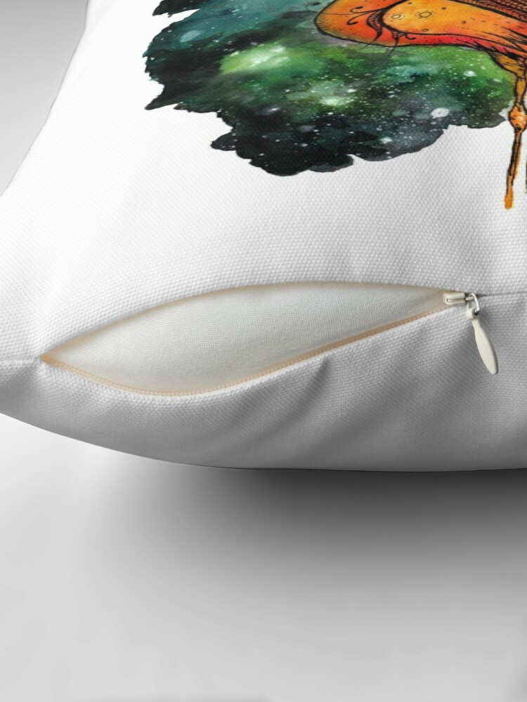 Alternate view of Galactic Flamingo  Throw Pillow