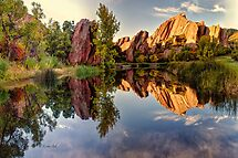 Red Rocks Reflection by OLena Art - brand