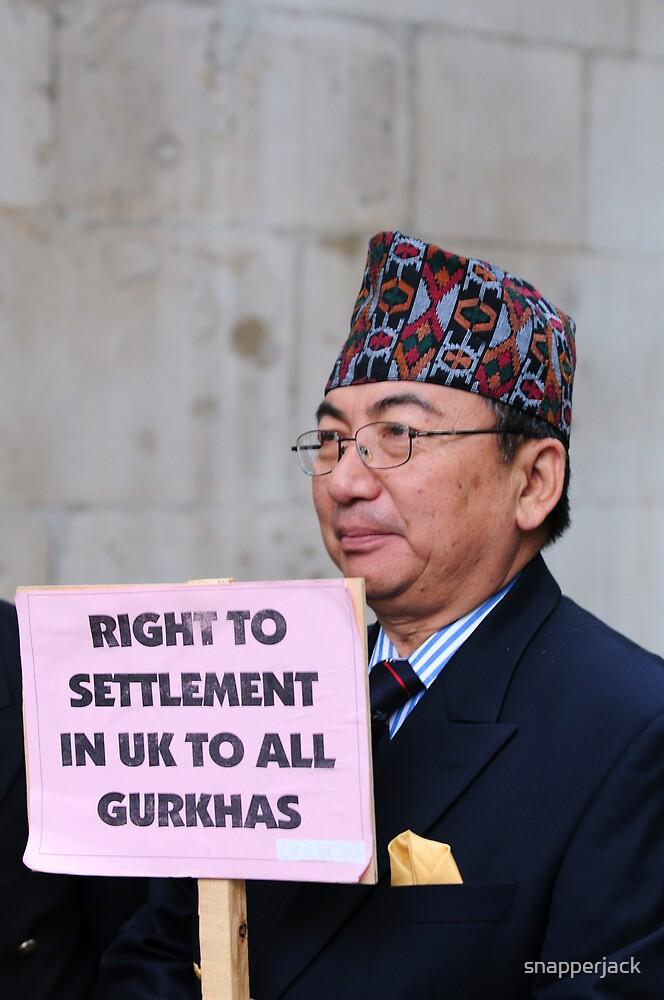 Gurkha Veteran Protest by snapperjack