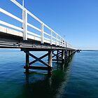 Busselton Blue - jetty in spring by Lunaqwa