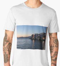 Mykonos Sunsets Men's Premium T-Shirt