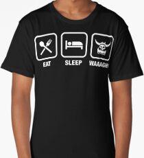 Eat Sleep Waaagh! Orks Warhammer 40k Inspired - Gaming Long T-Shirt