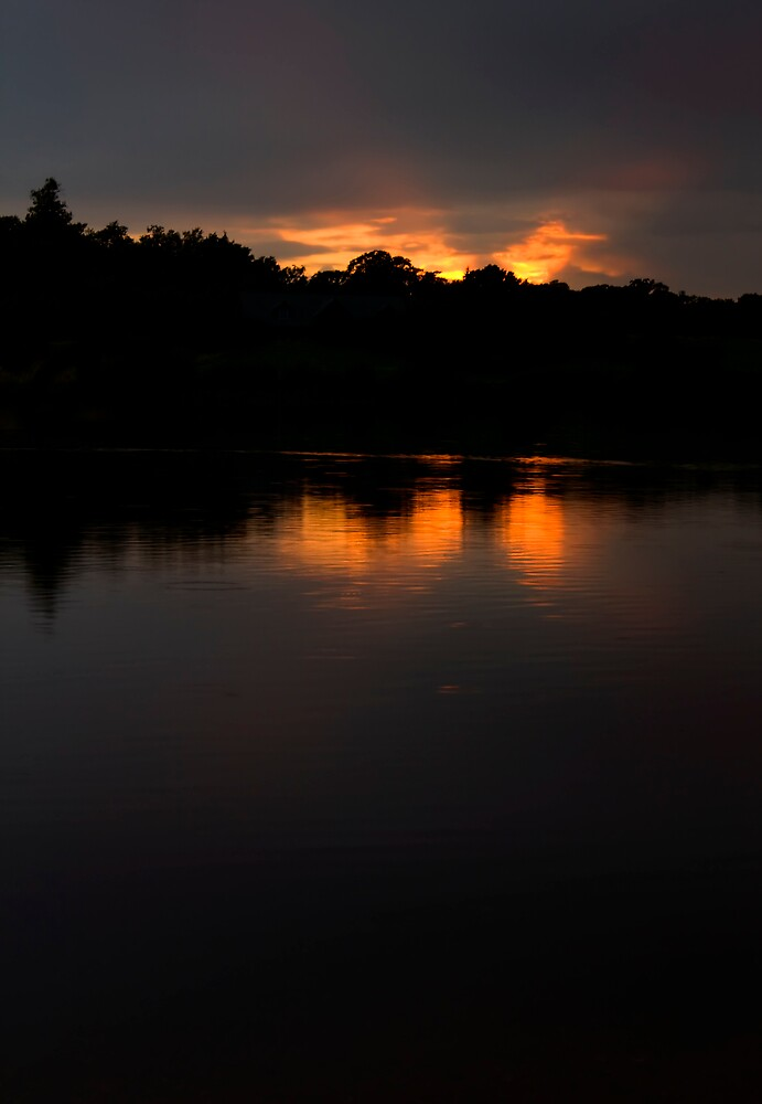 Lake at Sunset Part 2 by Tristan Drinkwater