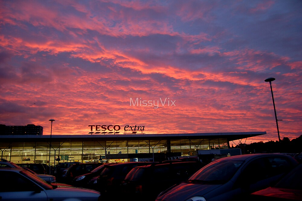Sunset over Tesco by MissyVix