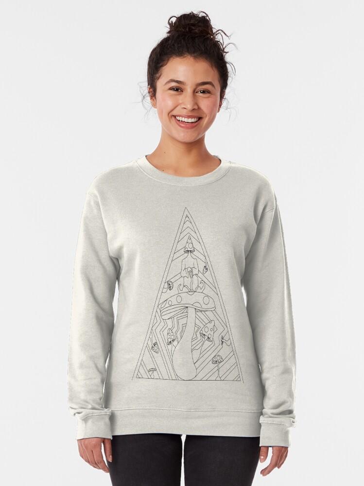 Alternate view of Hail to the mushroom king Pullover Sweatshirt