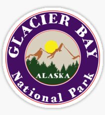 GLACIER BAY NATIONAL PARK ALASKA MOUNTAINS HIKING CAMPING HIKE CAMP 2 Sticker