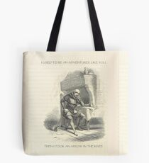 I used to be an Adventurer like you... Tote Bag