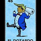El Dotardo lustige Trumpf-Vintage mexikanische Bingo-Karte von electrovista