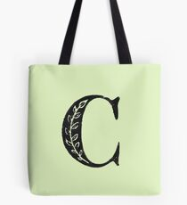 Serif Stamp Type - Buchstabe C Tote Bag