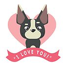 "Dog says, ""I Love You!"" by Sylia"