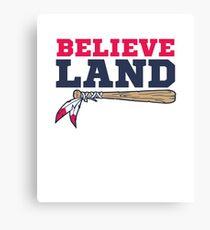 Believe Land Cleveland Baseball Canvas Print
