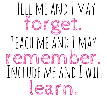 Include Me and I Will Learn. by Charloni
