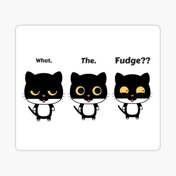 What the fudge? Surprised cat. Sticker